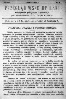 Przegląd Wszechpolski : miesięcznik polityczny ispołeczny. 1901, nr6
