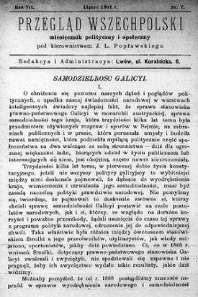 Przegląd Wszechpolski : miesięcznik polityczny ispołeczny. 1901, nr7