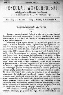 Przegląd Wszechpolski : miesięcznik polityczny ispołeczny. 1901, nr8