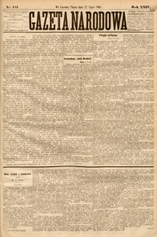 Gazeta Narodowa. 1885, nr161