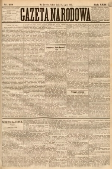 Gazeta Narodowa. 1885, nr168