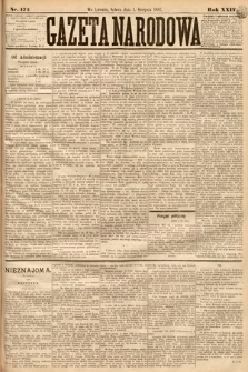 Gazeta Narodowa. 1885, nr174