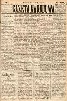 Gazeta Narodowa. 1885, nr194