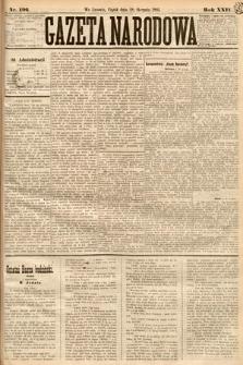 Gazeta Narodowa. 1885, nr196