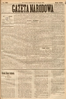 Gazeta Narodowa. 1885, nr198