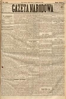 Gazeta Narodowa. 1885, nr225