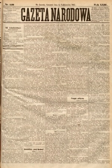 Gazeta Narodowa. 1885, nr229