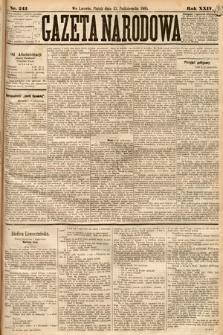 Gazeta Narodowa. 1885, nr242