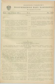 Dziennik Urzędowy Wojewódzkiej Rady Narodowej w Kielcach. 1972, nr 6 (25 lutego)