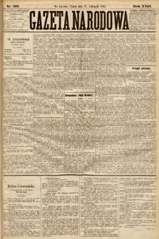 Gazeta Narodowa. 1885, nr272