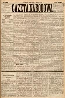 Gazeta Narodowa. 1885, nr278