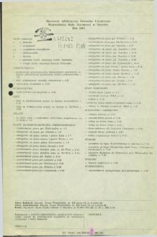 Dziennik Urzędowy Wojewódzkiej Rady Narodowej w Sieradzu. 1982, Skorowidz alfabetyczny