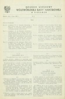 Dziennik Urzędowy Wojewódzkiej Rady Narodowej w Sieradzu. 1982, nr 2 (1 lipca)