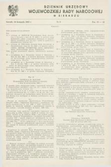 Dziennik Urzędowy Wojewódzkiej Rady Narodowej w Sieradzu. 1982, nr 6 (10 listopada)