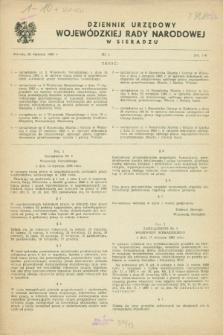 Dziennik Urzędowy Wojewódzkiej Rady Narodowej w Sieradzu. 1983, nr 1 (25 stycznia)