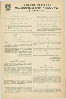 Dziennik Urzędowy Wojewódzkiej Rady Narodowej w Sieradzu. 1984, nr 4 (15 czerwca)