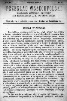 Przegląd Wszechpolski : miesięcznik polityczny ispołeczny. 1901, nr9