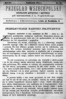 Przegląd Wszechpolski : miesięcznik polityczny ispołeczny. 1901, nr10