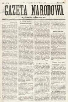 Gazeta Narodowa (wydanie wieczorne). 1877, nr172