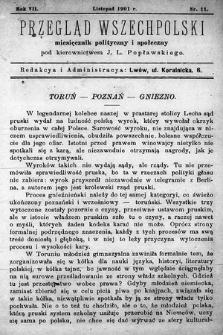 Przegląd Wszechpolski : miesięcznik polityczny ispołeczny. 1901, nr11