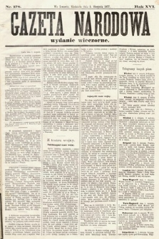 Gazeta Narodowa (wydanie wieczorne). 1877, nr178
