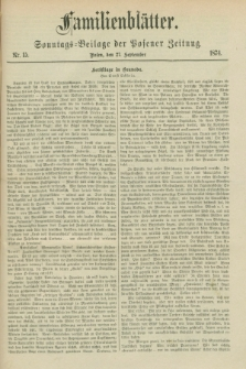 Familienblätter : Sonntags-Beilage der Posener Zeitung. 1874, Nr. 15 (27 September)