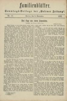 "Familienblätter : Sonntags-Beilage der ""Posener Zeitung"". 1883, Nr. 35 (2 September)"
