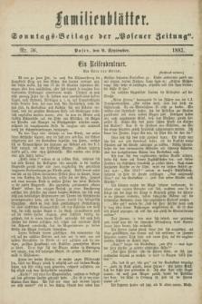 "Familienblätter : Sonntags-Beilage der ""Posener Zeitung"". 1883, Nr. 36 (9 September)"