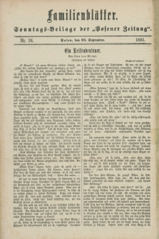 "Familienblätter : Sonntags-Beilage der ""Posener Zeitung"". 1883, Nr. 38 (23 September)"