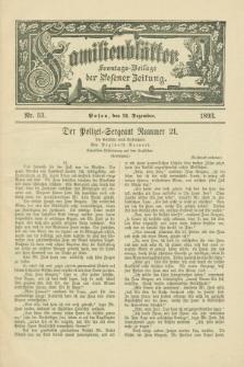 Familienblätter : Sonntags-Beilage der Posener Zeitung. 1893, Nr. 53 (31 Dezember)