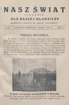 """Nasz Świat : tygodnik dla naszej młodzieży : bezpłatny dodatek do """"Gazety Mazurskiej"""". 1930, nr9"""