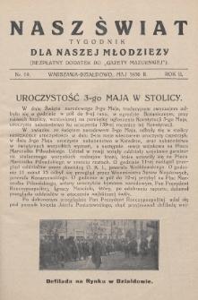 """Nasz Świat : tygodnik dla naszej młodzieży : bezpłatny dodatek do """"Gazety Mazurskiej"""". 1930, nr19"""