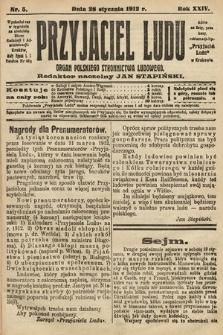 Przyjaciel Ludu : organ Polskiego Stronnictwa Ludowego. 1912, nr5