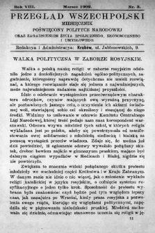 Przegląd Wszechpolski : miesięcznik poświęcony polityce narodowej oraz zagadnieniom życia społecznego, ekonomicznego iumysłowego. 1902, nr3