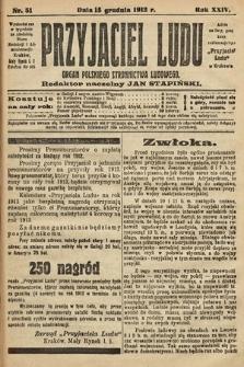 Przyjaciel Ludu : organ Polskiego Stronnictwa Ludowego. 1912, nr51