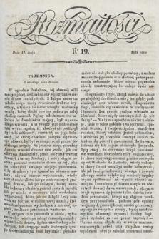 Rozmaitości : pismo dodatkowe do Gazety Lwowskiej. 1838, nr19