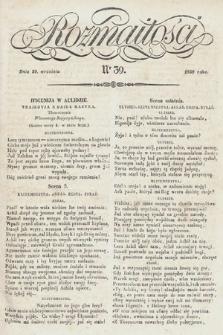 Rozmaitości : pismo dodatkowe do Gazety Lwowskiej. 1838, nr39