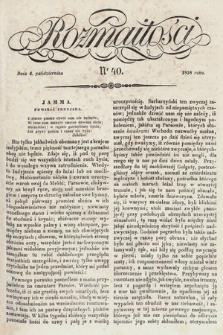 Rozmaitości : pismo dodatkowe do Gazety Lwowskiej. 1838, nr40