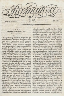 Rozmaitości : pismo dodatkowe do Gazety Lwowskiej. 1838, nr47