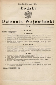 Łódzki Dziennik Wojewódzki. 1938, nr1