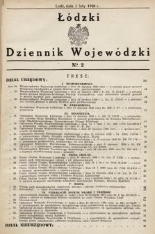 Łódzki Dziennik Wojewódzki. 1938, nr2