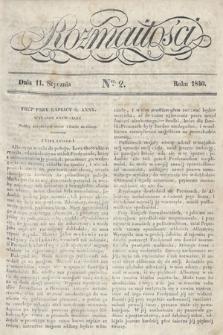 Rozmaitości : pismo dodatkowe do Gazety Lwowskiej. 1840, nr2