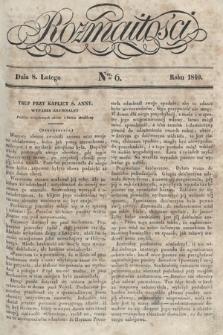 Rozmaitości : pismo dodatkowe do Gazety Lwowskiej. 1840, nr6