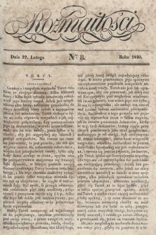 Rozmaitości : pismo dodatkowe do Gazety Lwowskiej. 1840, nr8