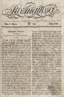 Rozmaitości : pismo dodatkowe do Gazety Lwowskiej. 1840, nr10