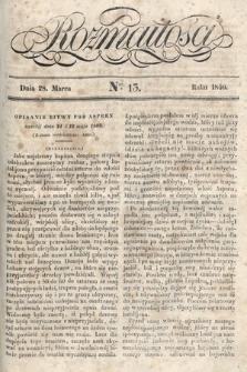 Rozmaitości : pismo dodatkowe do Gazety Lwowskiej. 1840, nr13