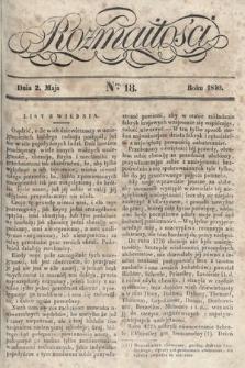 Rozmaitości : pismo dodatkowe do Gazety Lwowskiej. 1840, nr18