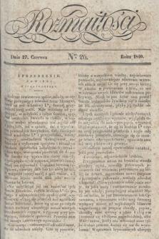 Rozmaitości : pismo dodatkowe do Gazety Lwowskiej. 1840, nr26