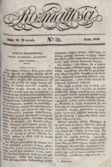 Rozmaitości : pismo dodatkowe do Gazety Lwowskiej. 1840, nr38