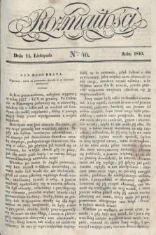 Rozmaitości : pismo dodatkowe do Gazety Lwowskiej. 1840, nr46